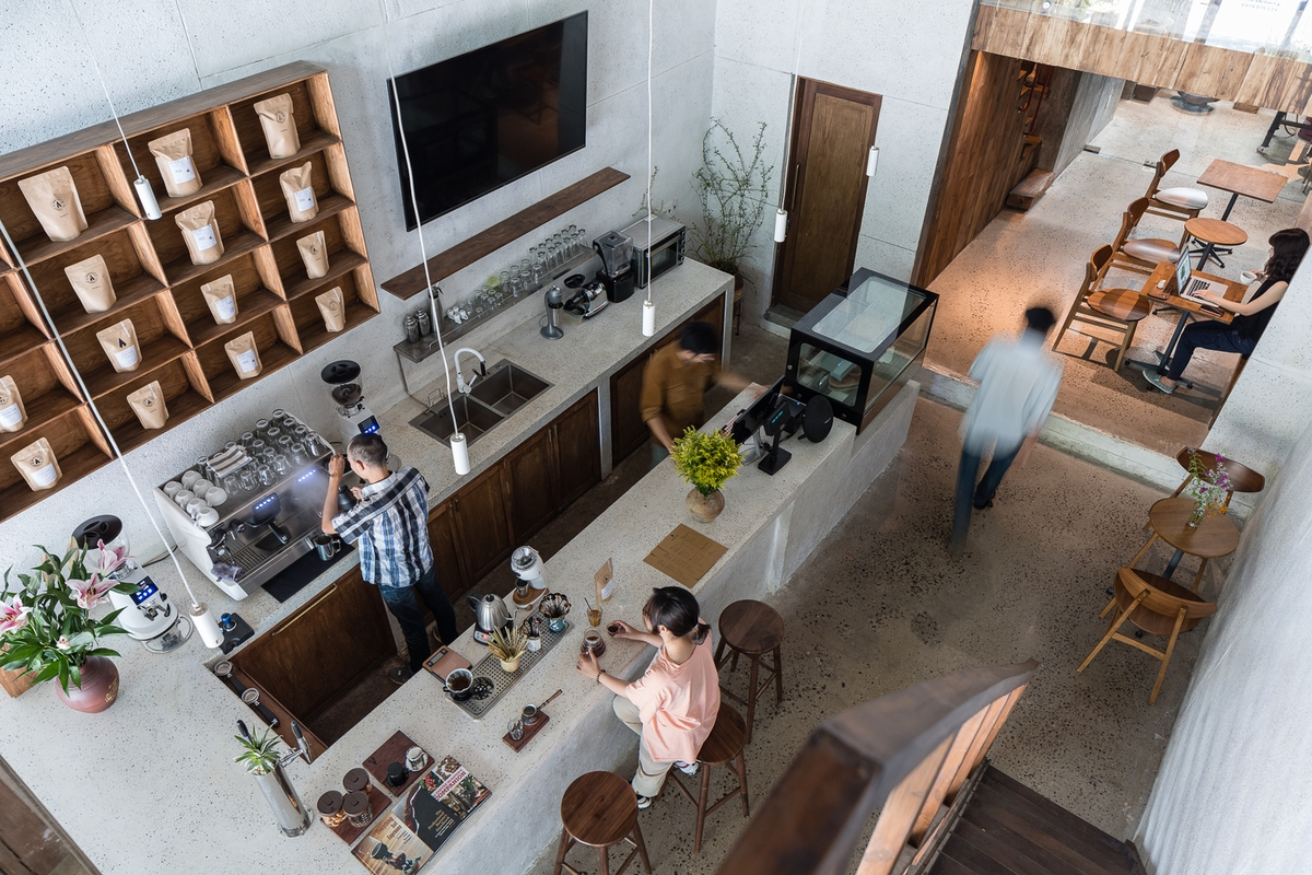 Adiuvat, coffee shop, Archdaily, Quy Nhon, townhouse
