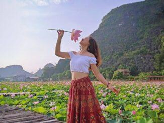 Mua cave, lotus pond, Ninh Binh, Ngoa Long,