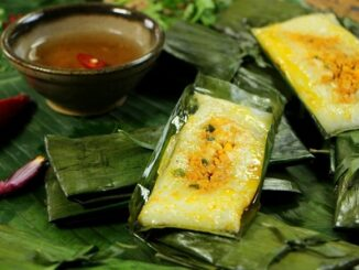 3 regions specialties,black banh chung,leaf wrapping cake